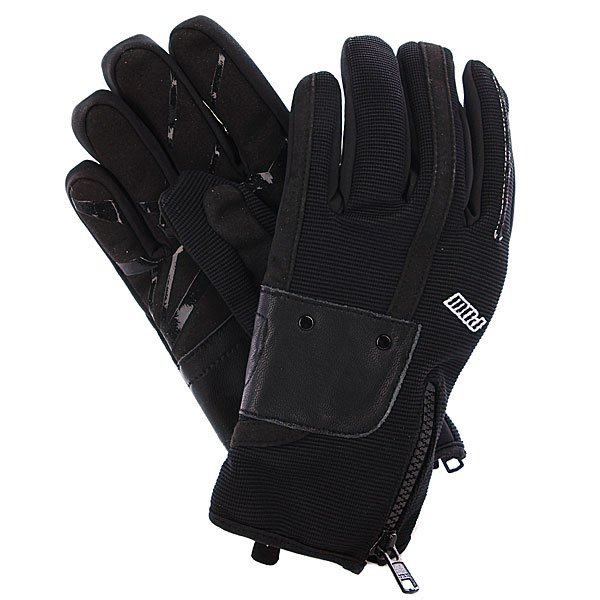 Перчатки сноубордические женские Pow Barker Glove BlackХарактеристики: Мягкая внутренняя подкладка из микрофлиса. Влагонепроницаемое внешнее покрытие Clarino®.  Внутренний наполнитель 3M Thinsulate  - 40 гр. Мягкая флисовая нашивка на большом пальце для протирания очков. Застежка-молния YKK® на манжете. Неопреновые эластичные манжеты Neoprene®.Вышитый логотип производителя.<br><br>Цвет: черный<br>Тип: Перчатки сноубордические<br>Возраст: Взрослый<br>Пол: Женский