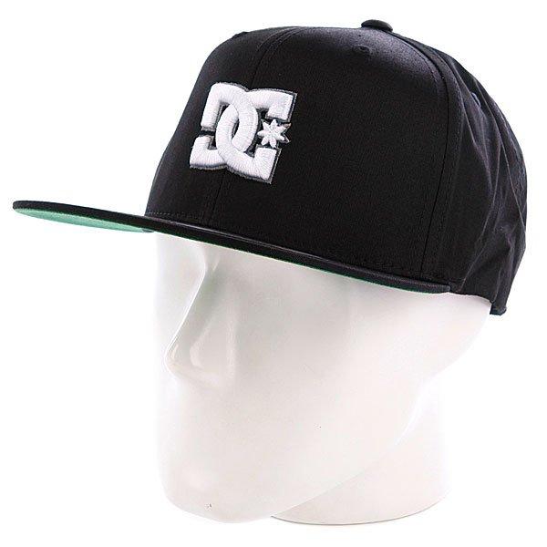 Бейсболка DC Snappy Black<br><br>Цвет: черный,зеленый<br>Тип: Бейсболка с прямым козырьком<br>Возраст: Взрослый