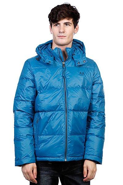 голубая куртка фред перри