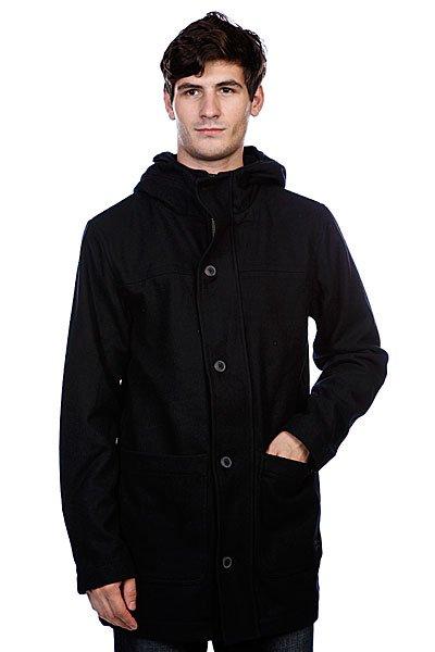 Пальто Quiksilver Warrington Jacket NavyТехнические характеристики: Верх из комбинации полистера и шерсти. Внутренн подкладка из хлопка. Без дополнительного утеплени.  Застежка – пуговицы + молни по всей длине.  Фиксированный капшон. Два боковых накладных кармана дл рук.  Фасон: стандартный (regular fit).<br><br>Цвет: синий<br>Тип: Пальто<br>Возраст: Взрослый<br>Пол: Мужской
