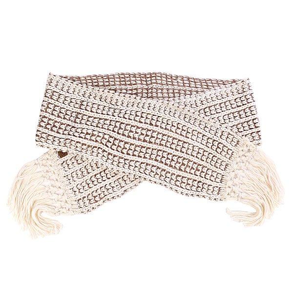 Шарф женский Rip Curl Jade Scarf PristineТеплый вязаный шарф с декоративной бахромой.Технические характеристики: Приятный на ощупь.Крупная вязка.Длинная бахрома.Ярлычок с логотипом Rip Curl.<br><br>Цвет: белый,коричневый<br>Тип: Шарф<br>Возраст: Взрослый<br>Пол: Женский
