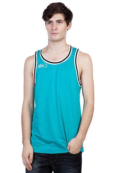Майка K1X Hardwood Double X Jersey Aqua/White<br><br>Цвет: голубой,черный<br>Тип: Майка<br>Возраст: Взрослый<br>Пол: Мужской