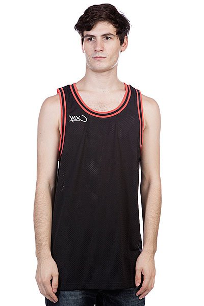 ����� K1X Hardwood Big Hole Mesh Double X Jersey Black/Red