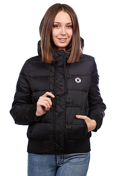 Куртка зимняя женская Converse Aww Hooded Down Jckt Black