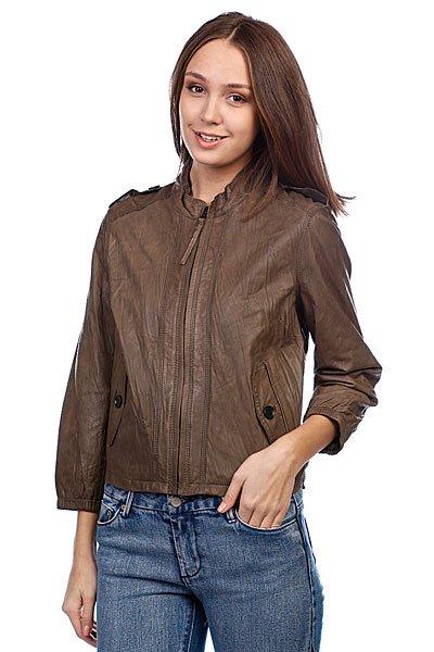 Куртка кожаная женская Converse Button Pocket Brown