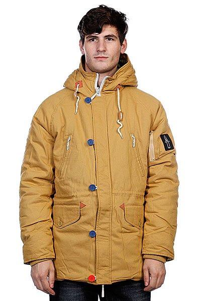 Куртка парка True Spin Alaska Jacket Beige/CamoTrueSpin выпустил новую порцию зимних курток. Эта коллекция отличается лаконичностью, которая немного не привычна для этого бренда. Они сделаны из очень плотного канваса, который защитит от холодного ветра и другой зимней непогоды. Дизайн куртки позволяет носить ее наизнанку - на внутренней стороне нашли себе место уже знакомые принты! Куртка доступна в трех ярких цветах!<br><br>Цвет: оранжевый,камуфляжный<br>Тип: Куртка парка<br>Возраст: Взрослый<br>Пол: Мужской