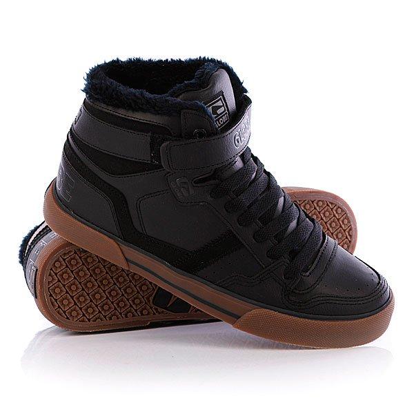 Кеды кроссовки утепленные Globe Superfly-Vulcan Black Fur кеды кроссовки globe focus graphic black leather cross