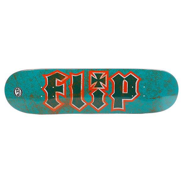Дека для скейтборда для скейтборда Flip Su3 Thrashed Teal/Orange 32.31 x 8.25 (21 см) Proskater.ru 3240.000