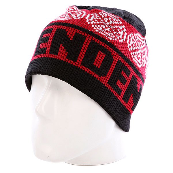 ����� Independent Woven Crosses Beanie Red/Black/White