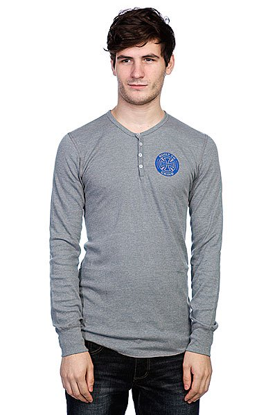 Лонгслив Independent Btg Ring Thermal Henley Melange Navy