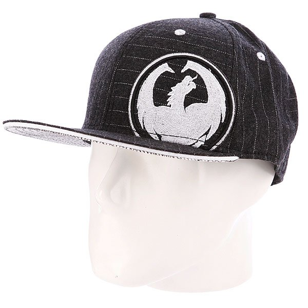 Бейсболка Dragon Risen Fitted Black/Pinstripe