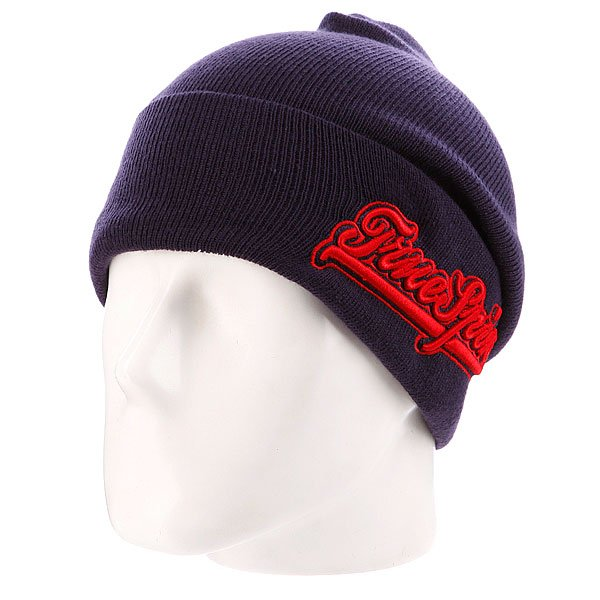 шапка-true-spin-retro-font-classic-navy-red