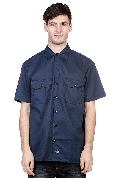 Рубашка Dickies Short Sleeve Workshirt Dark Navy