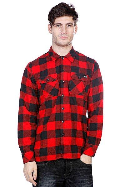 Рубашка в клетку Dickies Sacramento Red<br><br>Цвет: красный,черный<br>Тип: Рубашка в клетку<br>Возраст: Взрослый<br>Пол: Мужской