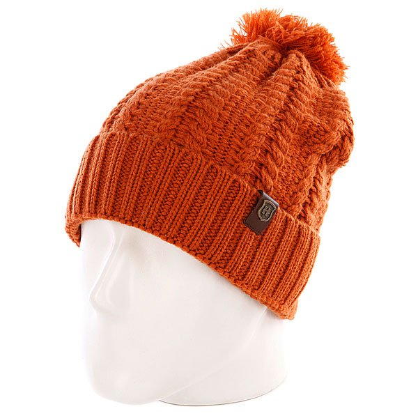 Шапка с помпоном женская Harrison Annabel Beanies Brown<br><br>Цвет: оранжевый<br>Тип: Шапка<br>Возраст: Взрослый<br>Пол: Женский