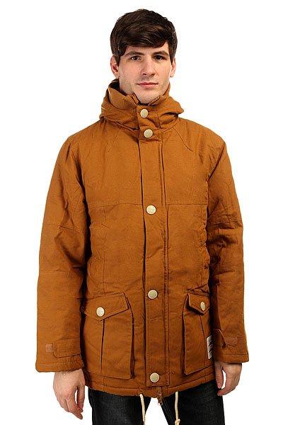 Куртка зимняя True Spin Soldier BrownТеплая куртка из зимней коллекции бренда TrueSpin.   Благодаря теплой подкладке и водонепроницаемой основе, эта куртка очень практична в суровых зимних условиях.  В качестве основного материала используется плотный канвас.<br><br>Цвет: коричневый<br>Тип: Куртка зимняя<br>Возраст: Взрослый<br>Пол: Мужской