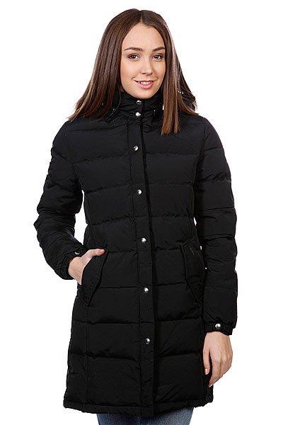 Куртка пуховик женская Penfield Wmns Millis Jacket BlackТехнические характеристики: Верх из 100% нейлона. Внутренняя подкладка из тафты.Утеплитель - синтепон (зима/осень).  Застежка – молния+кнопки по всей длине.  Воротник-стойка.  Съемный капюшон.  Потайная утяжка пояса.  Два боковых прорезных кармана для рук.  Фасон: стандартный удлиненный (regular long fit).<br><br>Цвет: черный<br>Тип: Пуховик<br>Возраст: Взрослый<br>Пол: Женский