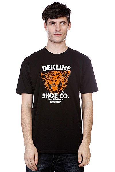 Футболка Dekline Wild Cat Black<br><br>Цвет: черный<br>Тип: Футболка<br>Возраст: Взрослый<br>Пол: Мужской