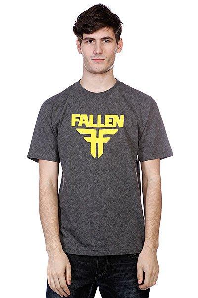 Футболка Fallen Insignia Logo Heather Grey<br><br>Цвет: серый<br>Тип: Футболка<br>Возраст: Взрослый<br>Пол: Мужской