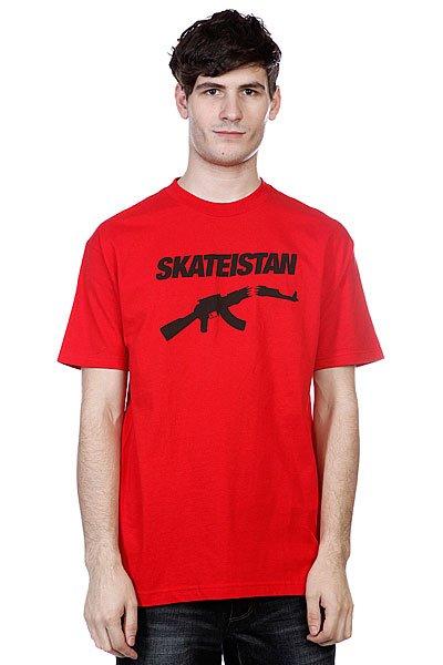 Футболка Fallen Skateistan S/S Red/Black<br><br>Цвет: красный<br>Тип: Футболка<br>Возраст: Взрослый<br>Пол: Мужской
