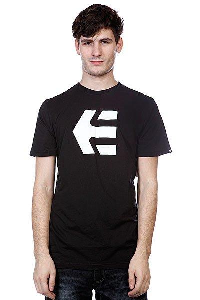 Футболка Etnies Icon 13 S/S Tee Black/White<br><br>Цвет: черный<br>Тип: Футболка<br>Возраст: Взрослый<br>Пол: Мужской