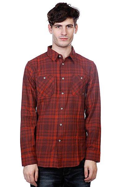 Рубашка в клетку Altamont Hauler L/S Flannel Rust<br><br>Цвет: бордовый,коричневый<br>Тип: Рубашка в клетку<br>Возраст: Взрослый<br>Пол: Мужской