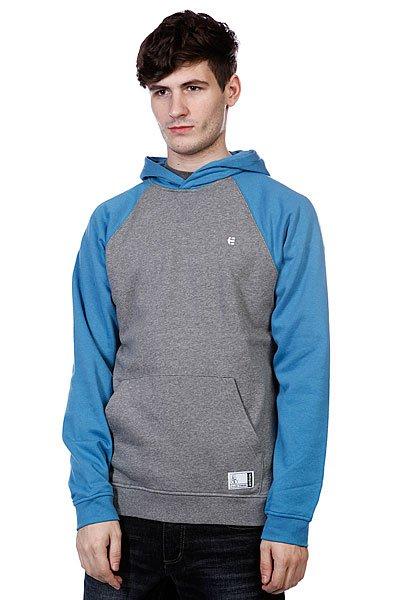 Кенгуру Etnies Classic P/O Fleece Grey/Blue<br><br>Цвет: голубой,серый<br>Тип: Толстовка кенгуру<br>Возраст: Взрослый<br>Пол: Мужской