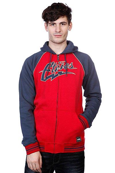 Толстовка Etnies Thunderous Zip Fleece Red/Navy<br><br>Цвет: красный,синий<br>Тип: Толстовка классическая<br>Возраст: Взрослый<br>Пол: Мужской