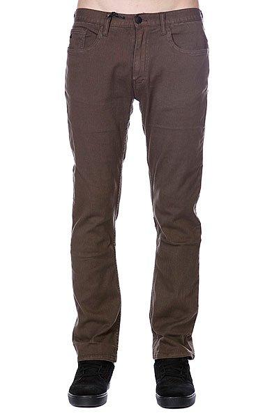 Джинсы прямые Emerica Standard Issue 5Pkt Chino Brown штаны прямые billabong new order chino khaki