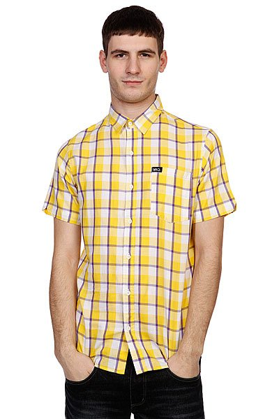 Рубашка в клетку K1X La Check Short Sleeve Shirt Yellow/Violet