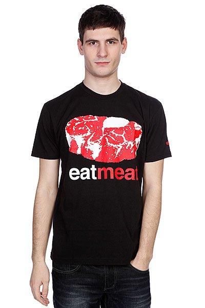 Футболка Enjoi Eat Meat Premium Black<br><br>Цвет: черный<br>Тип: Футболка<br>Возраст: Взрослый<br>Пол: Мужской
