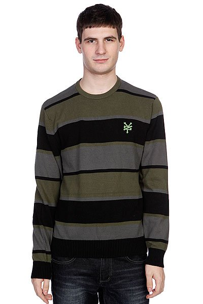 Джемпер Zoo York Striped Crew Sweater Black