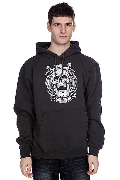 Кенгуру Darkstar Grave Pullover Charcoal<br><br>Цвет: черный<br>Тип: Толстовка кенгуру<br>Возраст: Взрослый<br>Пол: Мужской