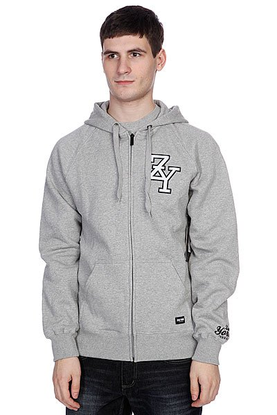 Толстовка Zoo York Zip Zy Hoody Lt Grey Heather ellesse toppo overhead hoody athletic grey marl