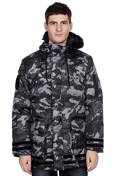 Пуховик Zoo York Zoo Snorkle Black (Camo)