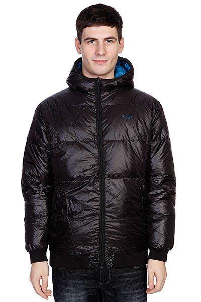 Куртка зимняя Globe Stow Down Puffer Jacket BlackТехнические характеристики: Верх из 100% полиэстера. Внутренняя подкладка из тафты. Застежка – молния. Утепление – синтепон. Фиксированный капюшон с утяжкой. Эластичные лайкровые манжеты на рукавах и поясе.Два прорезных кармана для рук. Фасон – стандартный (regular fit).<br><br>Цвет: синий<br>Тип: Куртка зимняя<br>Возраст: Взрослый<br>Пол: Мужской