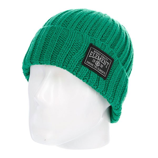 Шапка вязаная Element Counter Beanie Celtic Green<br><br>Цвет: зеленый<br>Тип: Шапка<br>Возраст: Взрослый<br>Пол: Мужской