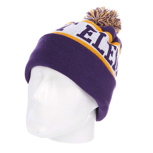 Шапка с помпоном Element Fairfax Beanie Purple<br><br>Цвет: фиолетовый<br>Тип: Шапка<br>Возраст: Взрослый