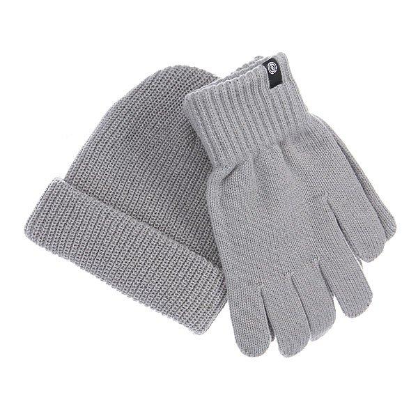 Комплект Element Rook Set CharcoalВ комплект входит шапка и перчатки<br><br>Цвет: серый<br>Тип: Шапка<br>Возраст: Взрослый<br>Пол: Мужской