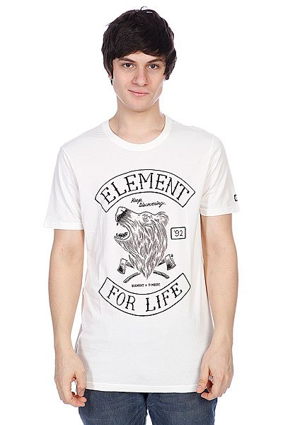 Футболка Element Timber Bear Ss F Off White футболка element vertical ss ash