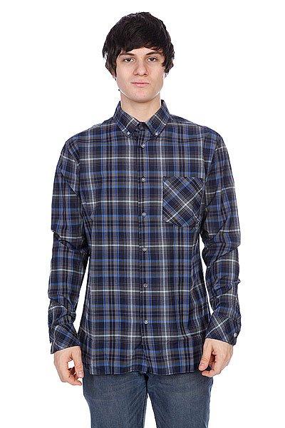 Рубашка в клетку Element Hooper Navy Blue<br><br>Цвет: серый,синий<br>Тип: Рубашка в клетку<br>Возраст: Взрослый<br>Пол: Мужской