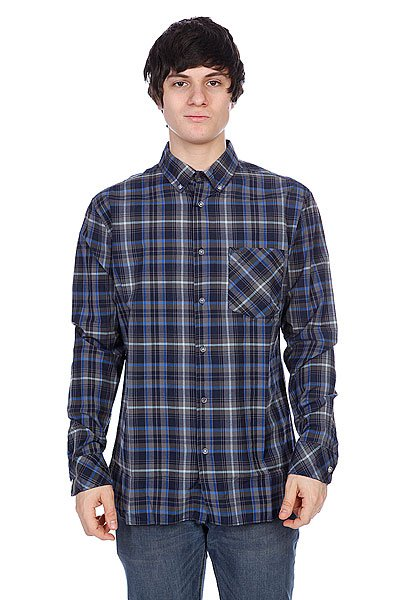 Рубашка в клетку Element Hooper Navy Blue