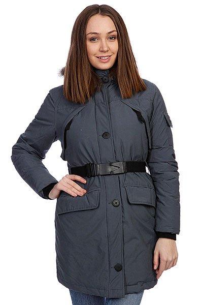 Куртка парка женская Penfield Hoosac Parka (Faux Fur) Charcoal Blue