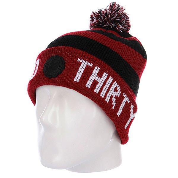 Шапка с помпоном Thirty Two Abingdon Red/Black<br><br>Цвет: бордовый,черный<br>Тип: Шапка<br>Возраст: Взрослый