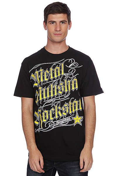 Футболка Metal Mulisha Black Letter Rs Black metal mulisha футболка metal mulisha quartered black