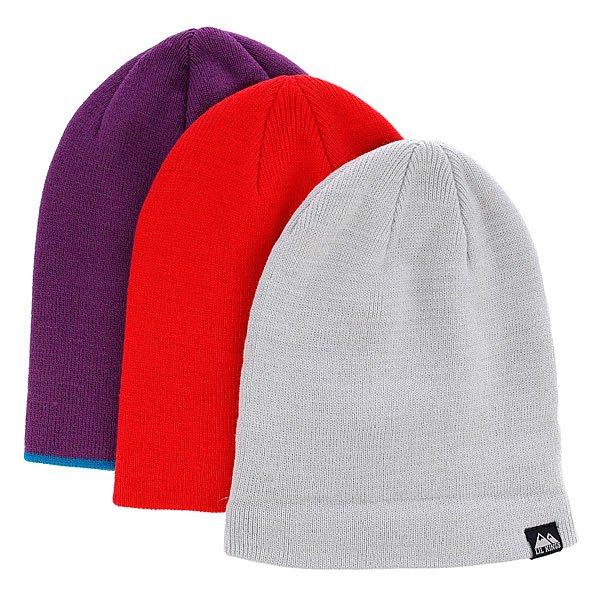 Шапка Lil Kings Violete/Red/Grey (3-Pack)Комплект из 3-х шапок<br><br>Цвет: красный,серый,фиолетовый<br>Тип: Шапка<br>Возраст: Взрослый<br>Пол: Мужской