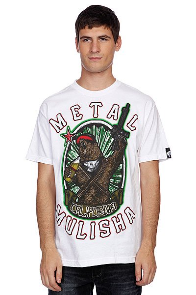 Футболка Metal Mulisha Ca Bear Optic White