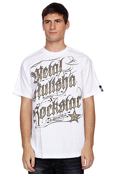 Футболка Metal Mulisha Black Letter Rs Optic White