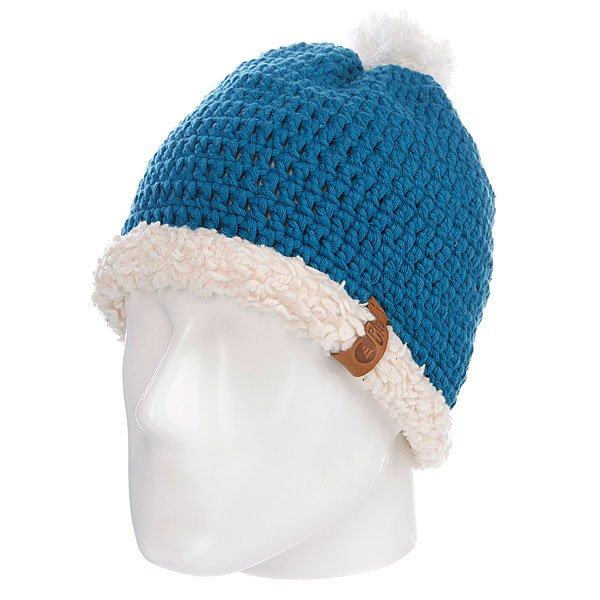 Шапка с помпоном Picture Organic Snowball Beanies Blue Petrol<br><br>Цвет: синий<br>Тип: Шапка<br>Возраст: Взрослый