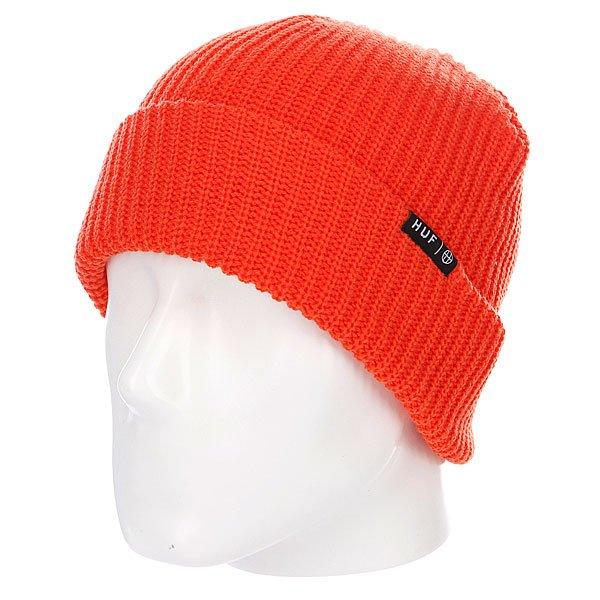 Шапка носок Huf Usual Beanie Bright Orange<br><br>Цвет: красный<br>Тип: Шапка носок<br>Возраст: Взрослый